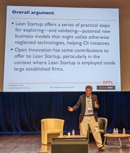 Chris Tucci advocating for more cross-fertilisation between Open Innovation and the lean start-up concepts