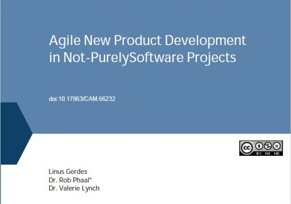 Agile New Product Development in Not-Purely Software Projects